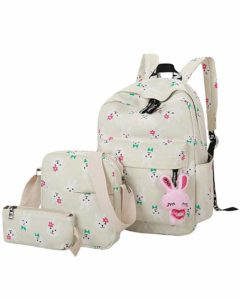 ABAGE Girls' Bag Set 3 Pieces Backpack