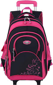 COOFIT Girls Rolling Backpack