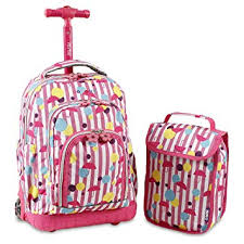 J World New York Lollipop Kids' Rolling Backpack