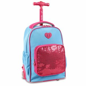 J World New York Sparkle Kids Rolling Backpack