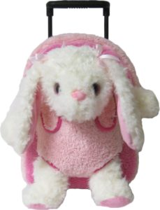 Kreative Kids Adorable Pink Bunny Rolling Backpack