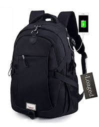 Loaged anti-theft 15.6-inch laptop backpack