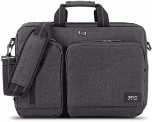 Solo Duane 15.6 Inch Laptop Hybrid Briefcase, Converts Backpack